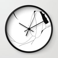 mouth Wall Clocks featuring Mouth by Heiko Hoos