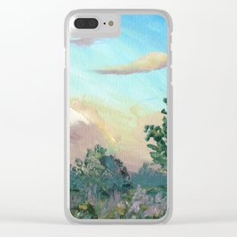 Sunset In Cambridge, New Zealand Art Clear iPhone Case