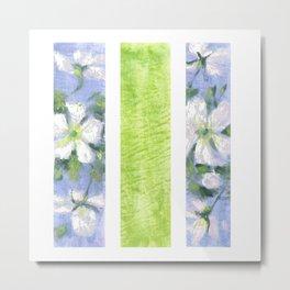 Fleurs blanches Metal Print
