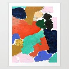 Kara - paint palette abstract minimal modern art bright colorful boho urban painting college dorm Art Print