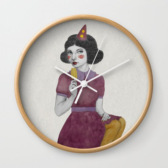 Andria dressed more colourful Wall Clock
