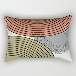 Retro Minimalist Design Rectangular Pillow