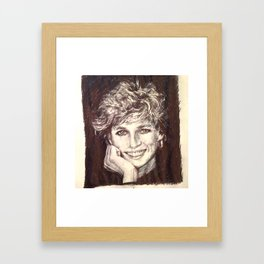 PRINCESS DIANA Framed Art Print