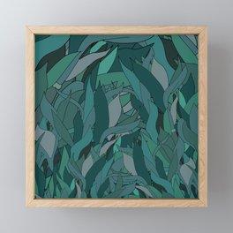 Seaweed in Emerald Sea Green Framed Mini Art Print