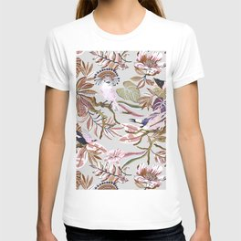 Pink tropical birds landscape I T-shirt