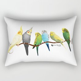 Parakeets and Cockatiels Rectangular Pillow