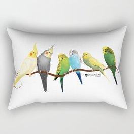 Parakeets and Cockatiels Rectangular Pillow