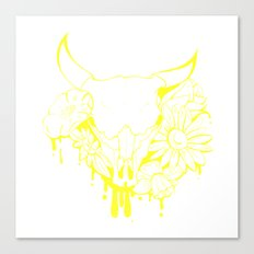 Flower Power Skull Canvas Print
