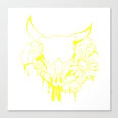 Flower Power Skull Canvas Print