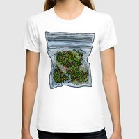 cannabis T-shirts featuring illustrated gram of cannabis by HiddenStash Art