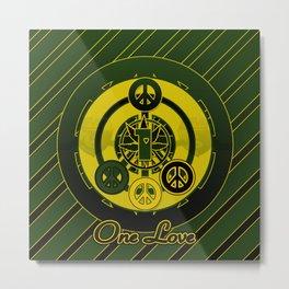 One Love (Green) Metal Print