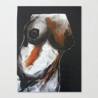 erotic Canvas Prints featuring Erotic by Monika Iatrou