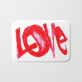 more love Bath Mat