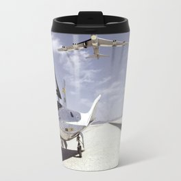 HL-10 on Lakebed with B-52 Flyby Travel Mug