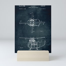 Coaxial rotor for a Helicopter Mini Art Print