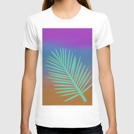 Aqua Palm, Minimalist Art, Desert Decor, Nature, T-shirt