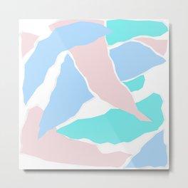 Pastel Paper Metal Print