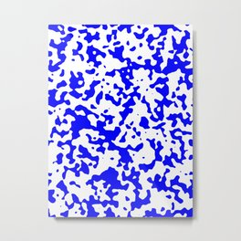 Spots - White and Blue Metal Print