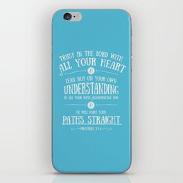 Proverbs 3 verses 5 and 6 - Typographic Bible Verse iPhone Skin