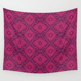 Ruby flowers Wall Tapestry
