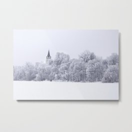 Blessed winter day Metal Print