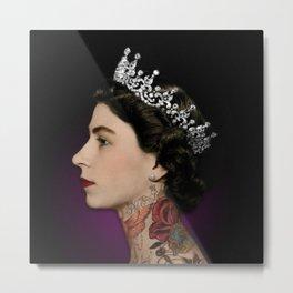 Queen Noir Metal Print