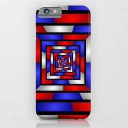 Colorful Tunnel 3 Digital Art Graphic iPhone Case