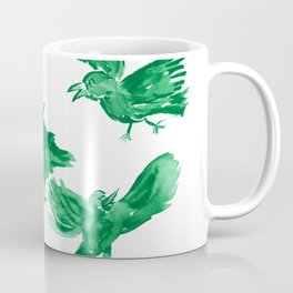 Happy Crows - Forest Green Coffee Mug
