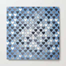 Valentine's day pattern Metal Print