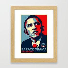 BARACK OBAMA FOR AMERICA Framed Art Print