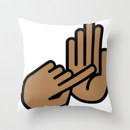 Saginaw Michigan Hand Map Throw Pillow