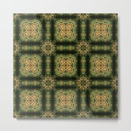 Indian Inspired Earthtone Tilework Metal Print