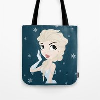 elsa Tote Bags featuring Elsa by swisscreation