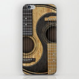 Aged Vintage Acoustic Guitars Yin Yang iPhone Skin