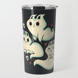 Ghost Cats Travel Mug