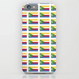flag of comoros -comores,comorian,comorien,moroni,iles éparses,scattered island,indian ocean iPhone Case