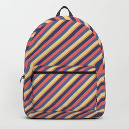 Summer Bright Colors Inclined Stripes Backpack