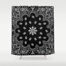 black and white bandana Shower Curtain