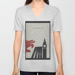 V Vendetta, alternative movie poster, graphic novel, Alan Moore, Natalie Portman, Guy Fawkes, S. Fry Unisex V-Neck