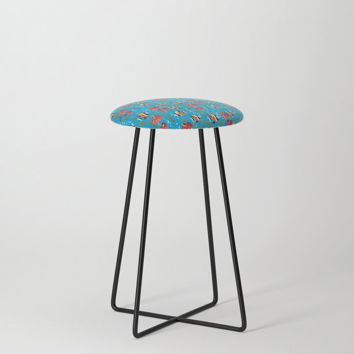 Fish Fun Counter Stool By Julistyle Society6