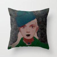 noir Throw Pillows featuring Noir by Eveline