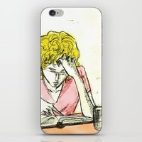 les mis iPhone & iPod Skins featuring Enjolras studying Les Mis by Pruoviare