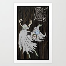 ...From the Trees. Art Print