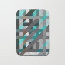 Line Tiles Textured Badematte