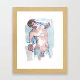 WILL, Nude Male by Frank-Joseph Framed Art Print