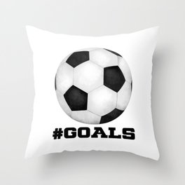 #Goals Throw Pillow