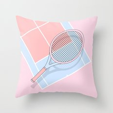 Hold my tennis racket Throw Pillow