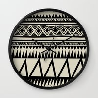zebra Wall Clocks featuring MALOU ZEBRA by Aztec