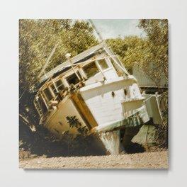 Boat in need of repair Metal Print