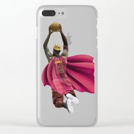 King James dunking with the Crown Clear iPhone Case